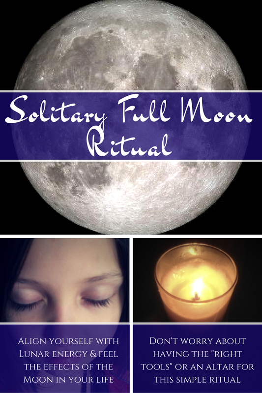 Solitary Full Moon Ritual